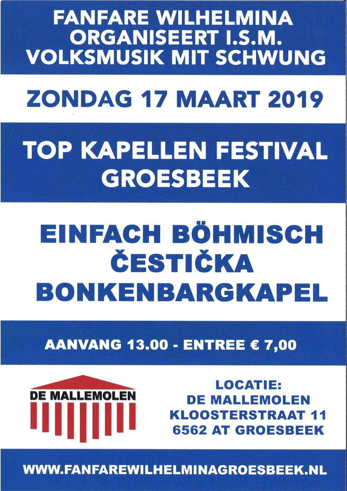 Top Kapellen Festival Groesbeek @ Cultureel Centrum de Mallemolen | Groesbeek | Gelderland | Nederland